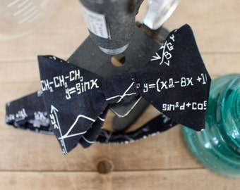 Equations in Black Bow Tie - bowtie, bow ties, bowties, geek, nerd, geeky chic, nerdy, math, physics, science, scientist, cool, fun