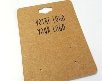 30 cardstock labels for earrings,custom labels in cardboard, product label,logo,scrapbooking, jewelery label,tag label,handmade label