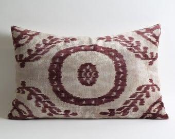 velvet pillow cover, cushion, pillow covers, ikat velvet, velvet pillows, couch pillows, cushion cover, pillow case, silk pillow,sofa pillow
