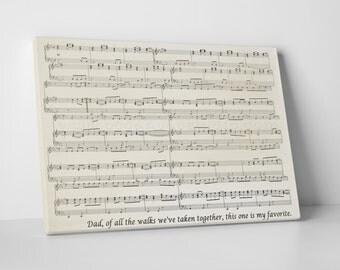 Sheet Music Print, Personalized Sheet Music Canvas, Sheet Music Framed On Canvas Sheet music art, sheet music notes, cotton canvas art