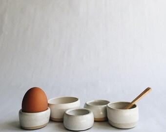 tabletop salt cellar / egg cup