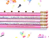 Never Let Anyone Dull Your Sparkle, Set of 6 Hex Pencils, Teacher Gift, Engraved Pencils, Stocking Stuffer, Hologram, TED078-PNCL