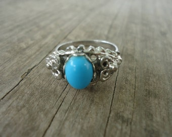 Vogue Turquoise Colored Stone Ring