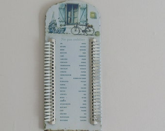 "Great Large Shopping Memo List, In French, ""Liste de Courses"", Antique Styled Kitchen Wall Hanging, highly decorative, Bon Appétit!!"