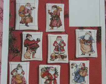 """1996 Vermillion Stitchery Leaflet Pattern Book Counted Cross Stitch Charts """"Bearing Gifts Ornaments"""" Christmas"""