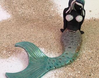 Harper The Turquoise Raku Caribbean Mermaid