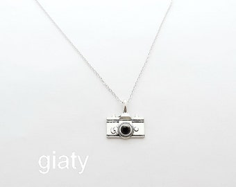 Camera Necklace, Everyday Necklace, Simple Necklace, Bff Necklace, Charm Necklace, Small Necklace, Dainty Necklace, Thin Necklace,