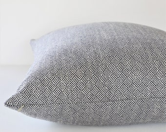 Lulu DK Claude Navy designer pillow cover - Made to Order - Choose Your Size