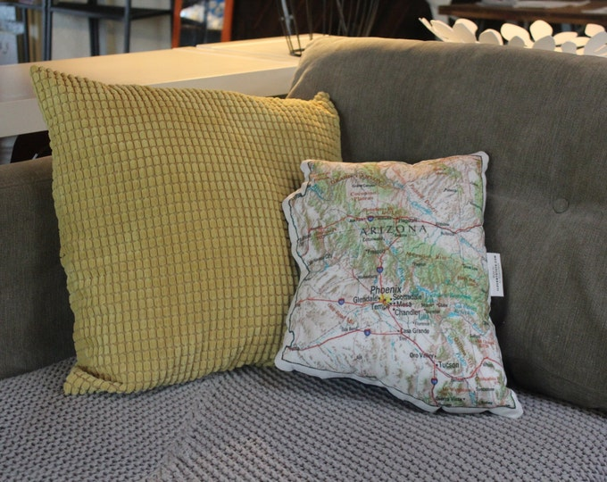 Arizona State Map Pillow