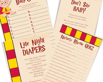 harry potter baby shower games harry potter baby shower game cards