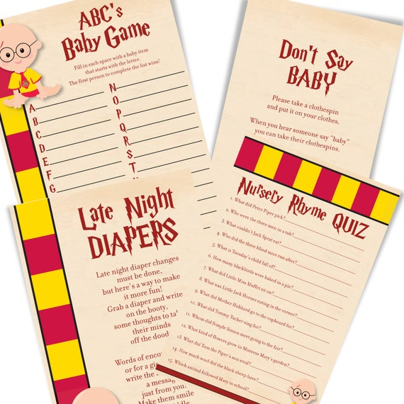 Harry Potter Baby Shower: Harry Potter Baby Shower Games Harry Potter Baby Shower Game