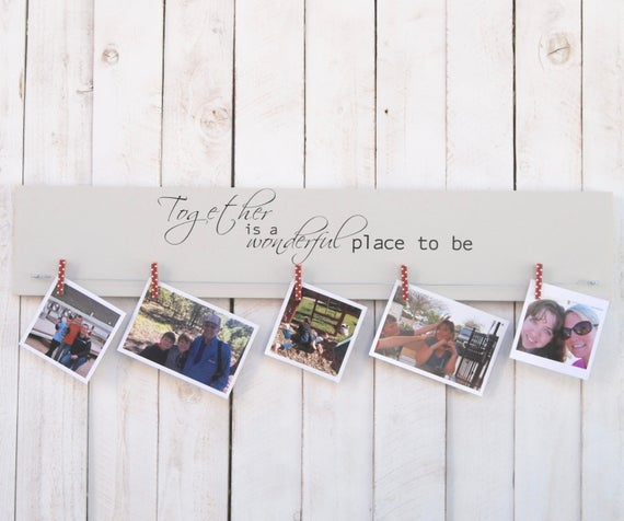 Together Is A Wonderful Place To Be Picture Frame Photo Frame Rustic Decor Family Frame