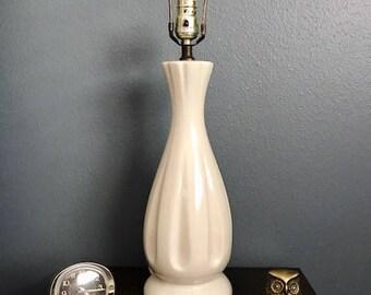 Mid Century Modern Ceramic White Lamp