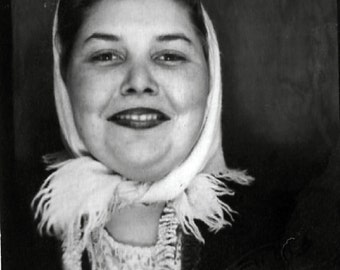 Vintage Photo Booth Photo..Lipstick, 1940's Original Found Photo, Vernacular Photography