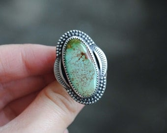 Royston Turquoise Ring, Size 8.75-9