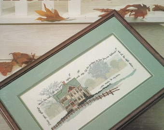 CROSS STITCH PATTERN - Ginger Bread Country House Counted Cross Stitch Pattern - Country Cross Stitch - Home Again - Leisure Arts #694