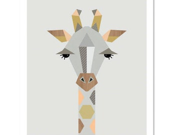 Giraffe Nursery Art,Nursery Decor, Kidsroom Art, Kids art, kids wall art, scandinavian, girl art, boy art, modern nursery art, giraffe print