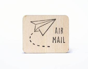 Airmail stamp, rubber stamp, air mail, postcrossing, snailmail, express mail stamp, mailing stamp, postal stamp, post office, studiomaas