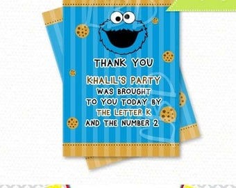 Cookie Monster Thank you note   You Print