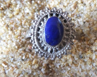 Lapis Lazuli and Sterling ring....size 8 only