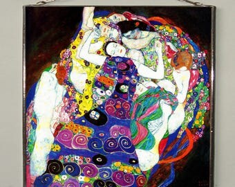Gustav Klimt - The Virgin, Stained glass, Vacation until 18. September
