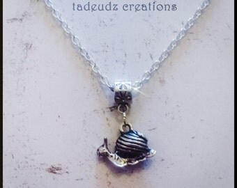 Silver Snail Charm Pendant