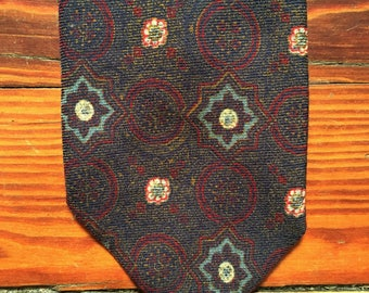 Vubtage 70s Brooks Brothers Purple Psychedelic Pattern Wool Tie