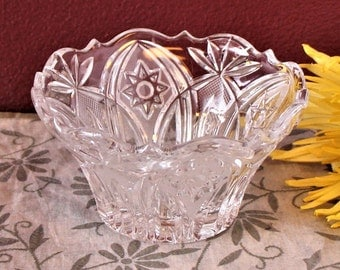 """Vintage Cut Glass """"Candy"""" Dish"""