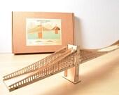 Brooklyn Bridge Model Kit, 4' Long, Large Wood Model Kit, New York City
