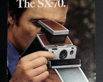 Polaroid SX-70 Vintage Magazine Ad, Vintage Photography Ad, Polaroid Camera Ad, Vintage Decor, Vintage Collectable, Vintage Camera Ad