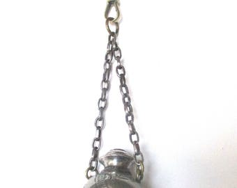 Victorian Pewter Vinaigrette Necklace