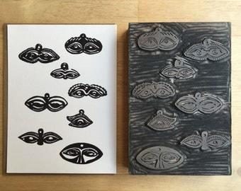 Milagro Hand Printed Card / Block Print / Stationary
