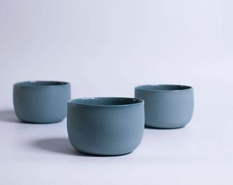 BOWL S - BLUE GRAY
