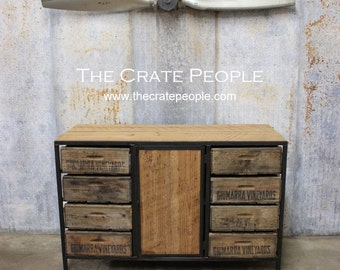 Awesome FREE SHIPPING   The Heely Credenza   Custom Made 100+ Yr Old Barn Wood  Furniture