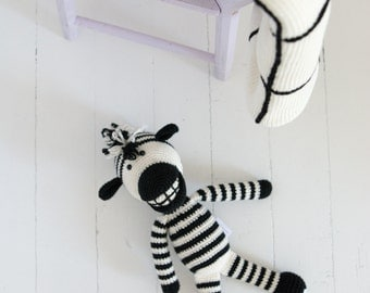 Amigurumi  Toy - Stuffed Animal - Crochet Zebra - Zebra Stuffed Animal - Organic Baby Toys - Plush  Zebra- Amigurumi - Baby Shower Gift