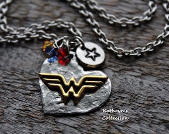 Wonder Woman Necklace, Super Mom, Super Hero