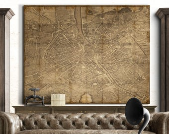 Vintage Maps Print Posters And More By FirstClassDesignCo On Etsy - Restoration hardware paris map