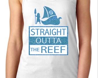 Disney Shirts // Moana Shirt // Straight Outta the Reef Shirt // Princess Shirt // Disney shirts for women