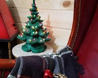 "Vintage 16"" Atlantic Mold Ceramic Christmas Tree"