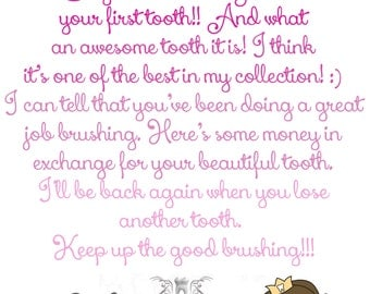 tooth fairy letter tooth fairy printable customized tooth fairy letter ...