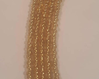 Gold seed bead necklace - seed bead necklace - Metallic gold seed bead necklace your choice of lengths - shiny gold beaded necklace