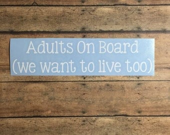 Adults on Board / funny / adult humor / humor / car decal