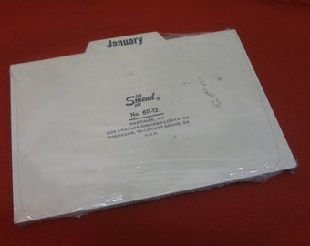 New in Package SMEAD No. 611-12 Month Divders for 4'' x 6'' Index Cards