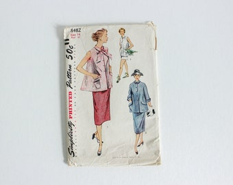 """Simplicity 8482 · Sz 14, bust 32"""" · Womens Maternity Separates Pattern · Vintage 1950s Sewing Pattern"""