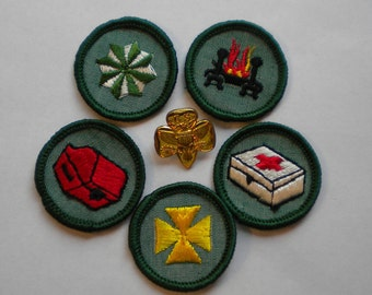 Vintage Lot 60s Girl Scout Patches NOS Girl Scout Patches FREE Shipping