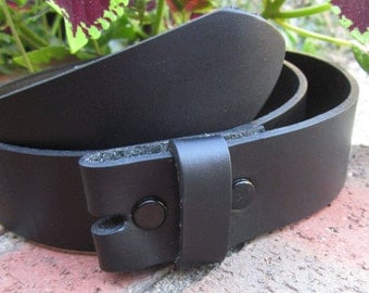 Small 32 inch belt strap Black full genuine leather belt strap 1.5 inch wide snap belt black leather belt for interchangeable belt buckles