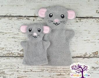 Mouse Bath Buddy Hand Puppet