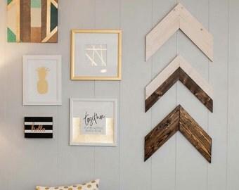 Chevron Wood Arrows + Wood Arrow Wall Art + Boho Arrow Decor + Wood Arrow Decor + Baby Shower Gift + Housewarming Gift + Wood Wall Arrow