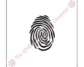 Fingerprint Cookie Stencil