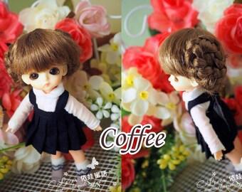 bjd doll girl wig W-S3 (2 colors) 1/12 lati white fl pukipuki